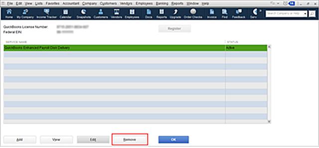 QBDT Payroll Service Key Removal
