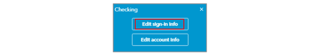 Edit QBO BankFeeds Sign-in Credentials