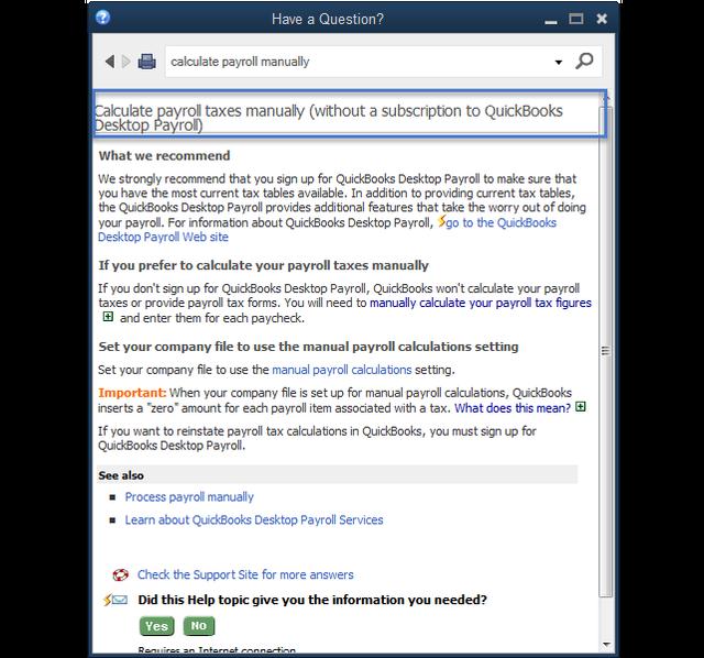 12 Steps To Manual Payroll In Quickbooks 2018 Desktop