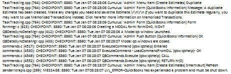 QBWin.log QB Crash