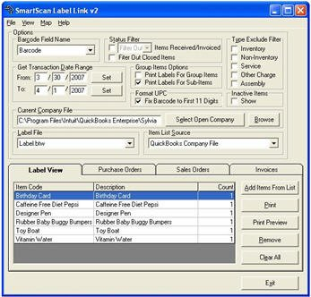 Inventory Management – QuickBooks 'Add-on' Products