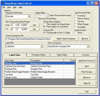 Baus SmartScan Label Link
