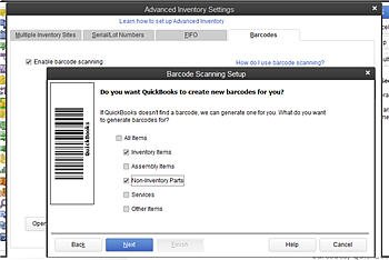 QuickBooks Enterprise Advanced Inventory Barcode Feature