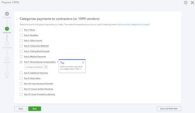 QuickBooks New 1099 Processing - Step-by-step