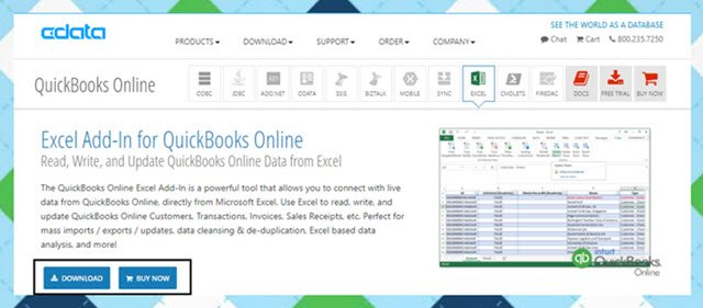 My Favorite Apps Week CData Excel Addin - Download quickbooks products