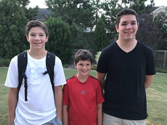 Pamela Stocks - three sons