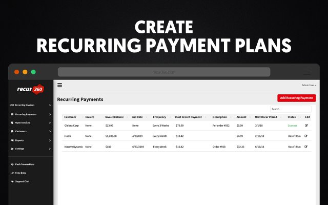 Create Recurring Payment Plans