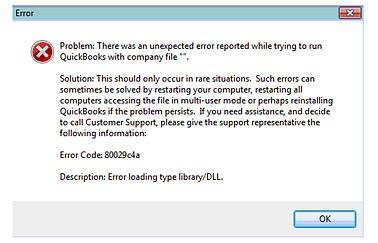 QuickBooks 2014 - Error Code: 80029c4a - insightfulaccountant.com