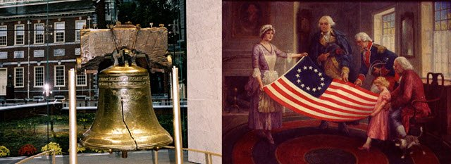 Philly-history_Liberty-bell_Betsy-Ross-flag