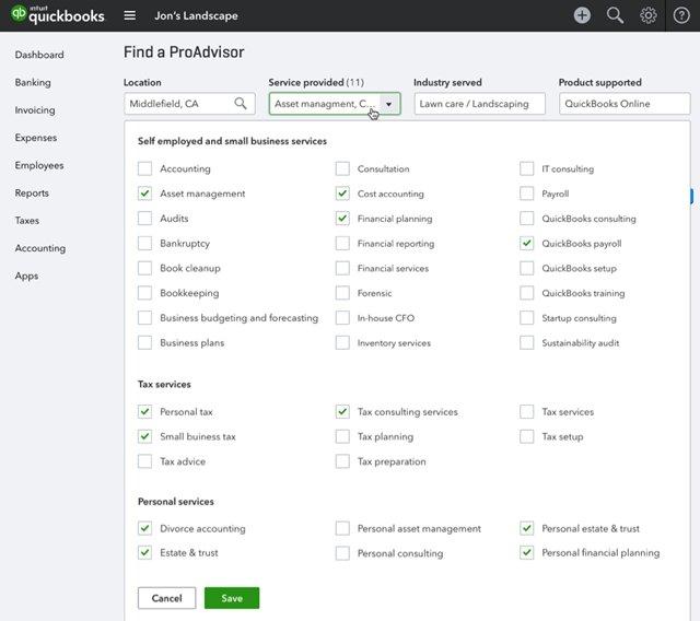 ProAdvisor Profile Service Changes