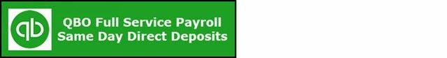QBO Full Service Payroll Same Day Direct Deposit