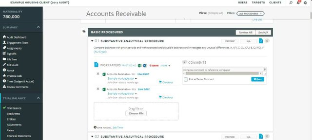 AuditFile accounts receivable