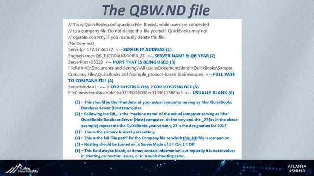 QB ND File Interpretation