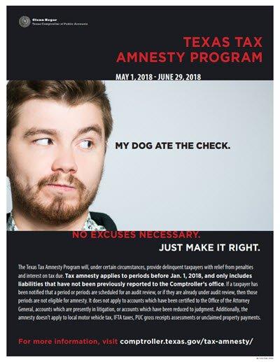 Texas Tax Amnesty
