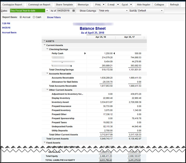 Is Your QuickBooks Desktop Balance Sheet Really Out Of