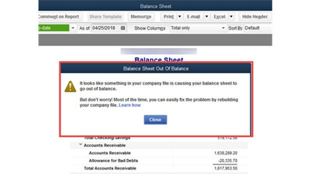 balance sheet template quickbooks