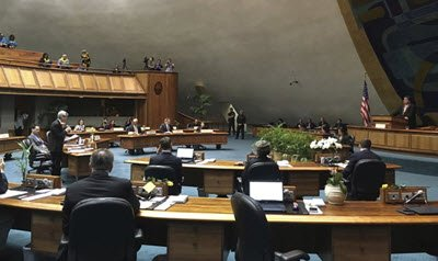 Hawaii 2018 Legislature in Session