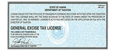 Hawaii General Excise Tax Certificate