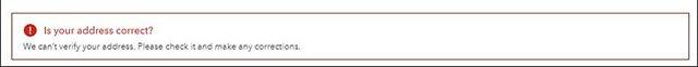 ProAdvisor Invalid Address - Please correct