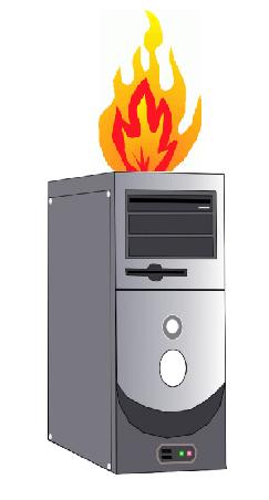 Computer fire