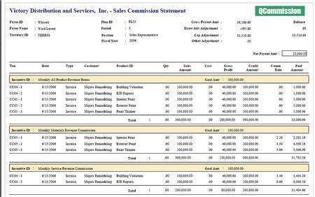 QCommission 'sample' Report
