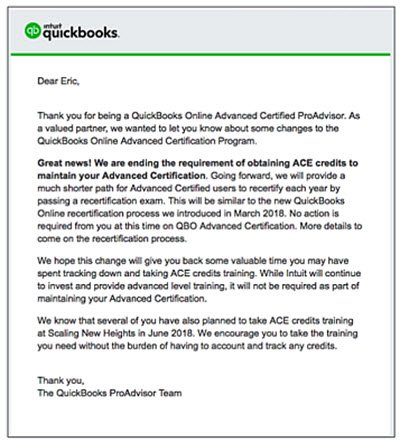 ACE abolished for QBO-Advanced