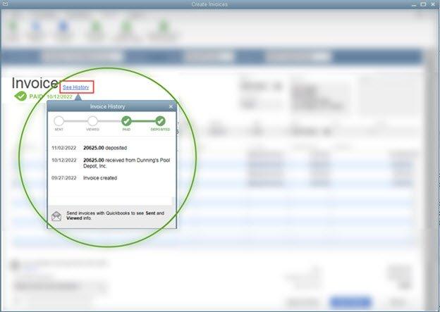 QuickBooks 2019 Desktop - Invoice History Tracker