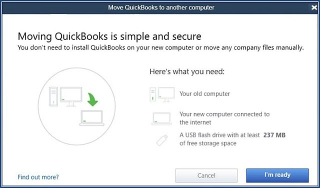 Migrate QuickBooks to another Computer