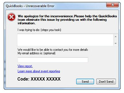 Unrecoverable Error - QuickBooks Must Shut Down