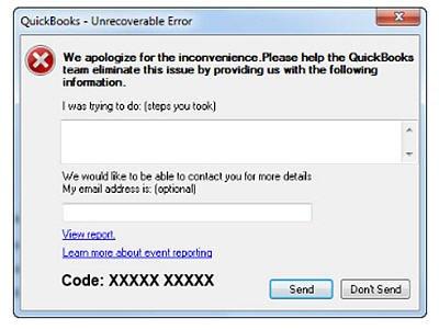Unrecoverable Error - QuickBooks Must Shut Down