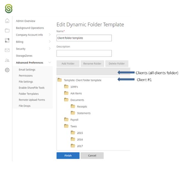 basic folder template share file