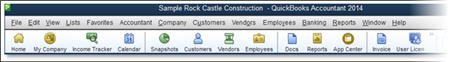 Colorized Top Icon Bar for QuickBooks 2014