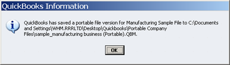 Successful Portable Company File process