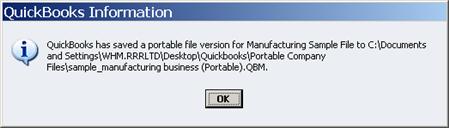 Successful Portable Company File process