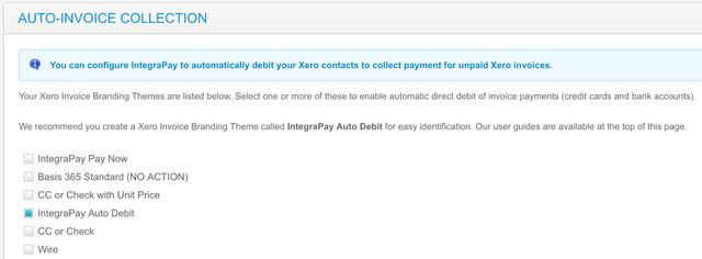 AutoInvoice Collection Xero