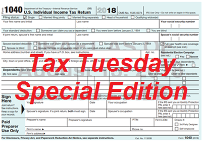 Tax Tuesday Special Edition
