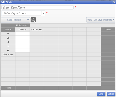 QBPOS: Style Grid window