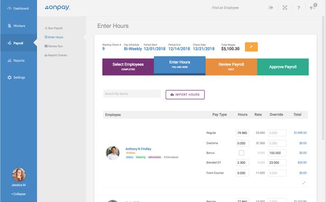 OnPay Enter Payroll