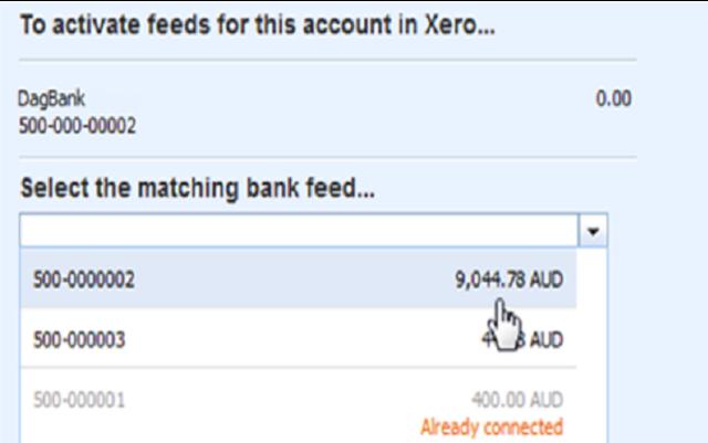 activate bank feeds xero