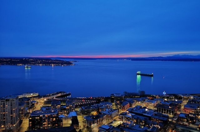 View from Seattle Space Needle at Night